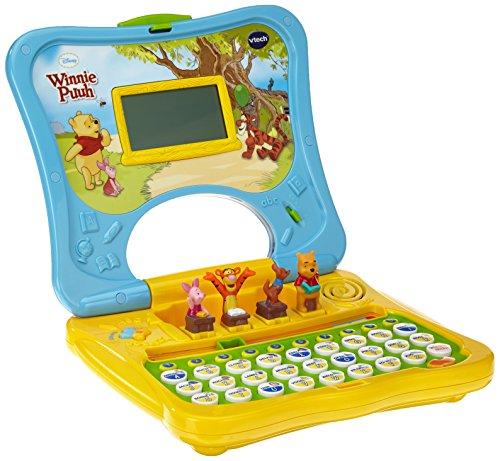 VTech 80-069104 - Lerncomputer Winnie Puuhs ABC-Laptop, farblich sortiert, Farbe nicht wählbar