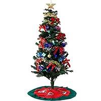 クリスマスツリー 150cm 8パターンのLEDイルミネーション オーナメント 9点セット 飾り付き 1691000300 SA