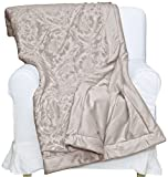 S.L. Home Fashions TPE-7103 Penelope Throw, Taupe