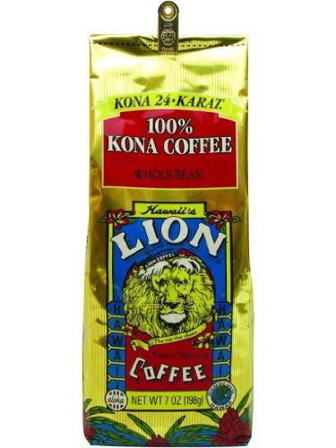 Hawaiian Deluxe Gift Set Lion Coffee Whole Bean 100% Pure Kona 2 Bags & 2 Coffee Mugs #2 And Aloha Sunset Pancake Mix Chocolate Coconut Macadamia Nut 2 Bags & 2 Bottles Maui Jelly Factory Macadamia Nut Pancake Syrup