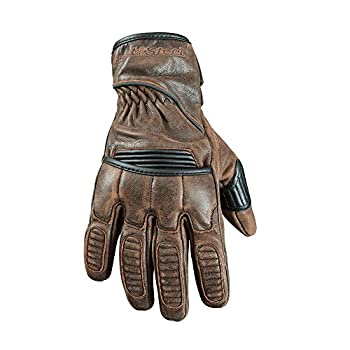 STREET & STEEL Scrambler Leather Motorcycle Gloves - LG, Brown
