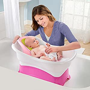 summer infant right height bath tub pink. Black Bedroom Furniture Sets. Home Design Ideas
