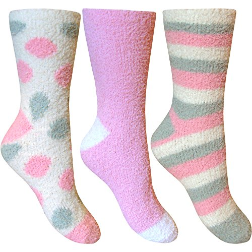Ladies Fluffy Stripes & Polka Dot Design Co-Zee
