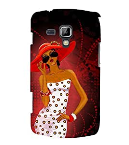 Ladki Beautiful 3D Hard Polycarbonate Designer Back Case Cover for Samsung Galaxy S Duos S7562