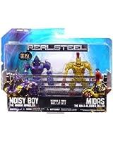 Jakks Pacific Real Steel Movie Basic Action Figure 2Pack Noisy Boy Vs. Midas