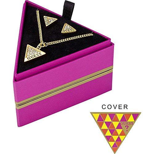 Guess UBS71302 rosafarbener Geschenkbox mit Halskette und Ohrringe Gold Triangle thumbnail