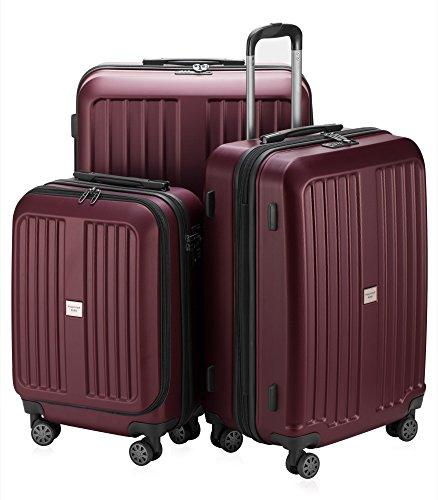 HAUPTSTADTKOFFER X-Berg Set di 3 valigie, colore Blu Scuro Bordeaux, (S, M & L), 258 litri