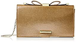 Anne Klein Time To Indulge Convertible Clutch, Gold/Metallic, One Size