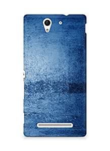 Amez designer printed 3d premium high quality back case cover for Sony Xperia C3 D2502 (Blue pattern)