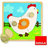 Holzpuzzle Huhn
