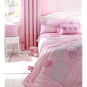 Pink Shabby Chic Girls Lined Curtains