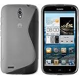 mumbi S-TPU Schutzhülle Huawei Ascend G610 Hülle transparent schwarz