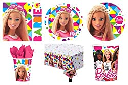 Barbie Party Supplies Standard Kit For 16 *Free Gift*
