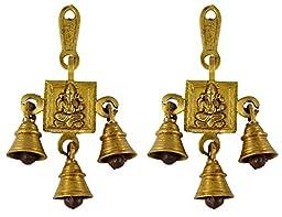 Brass Door Hanging Decorative Bells -Set of Two