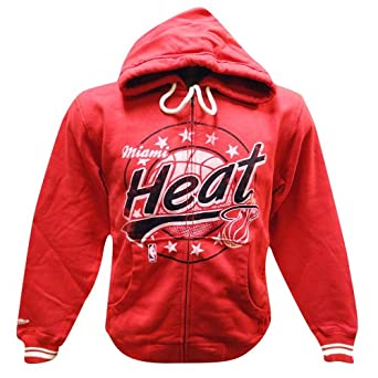Miami Heat Mitchell & Ness Tailored Full Zip Hooded Sweatshirt by Mitchell & Ness