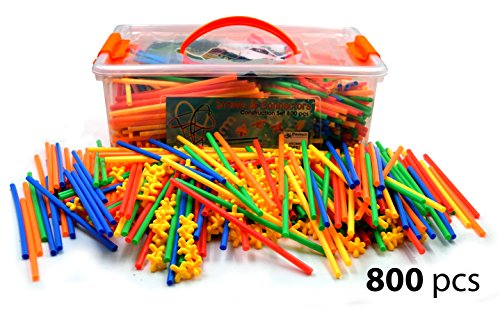 large-800-piece-straws-builders-construction-building-toy-giant-pack-with-special-connectors-by-play