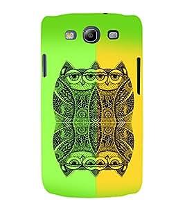PrintVisa Birds Modern Art Owl 3D Hard Polycarbonate Designer Back Case Cover for Samsung Galaxy S3 Neo