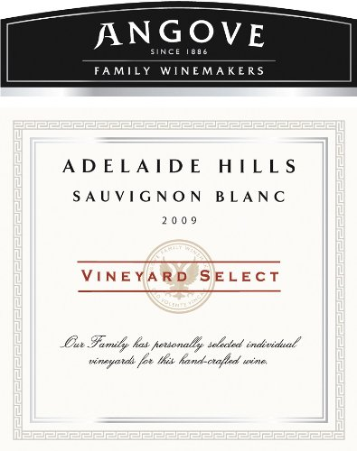 2009 Angove Select Sauvignon Blanc 750 Ml
