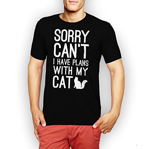 Sorry Cant I Have Plans With My Cat XXL Uomini T-Shirt