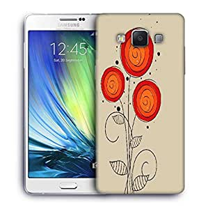 Snoogg abstract floral background Designer Protective Back Case Cover For Samsung Galaxy A7