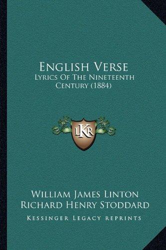 English Verse: Lyrics of the Nineteenth Century (1884)