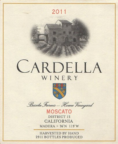 2012 Cardella Winery Moscato 750 Ml
