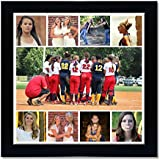 Clixicle **Free Customization** Photo Collage Poster With Black Frame Frame For Friends, Family, Father, Mother...