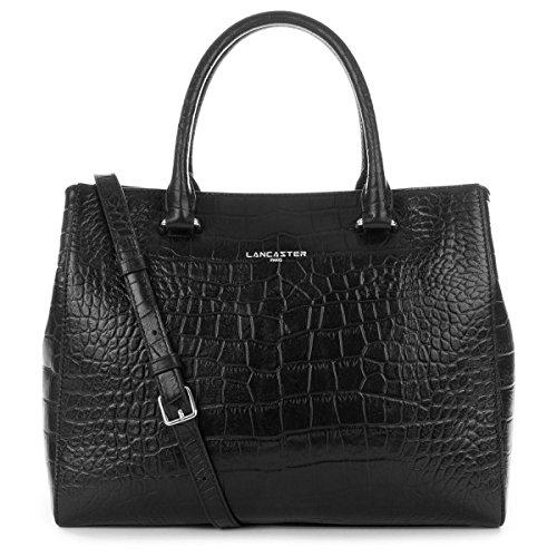 lancaster-petit-cabas-exotic-croco-526-69-noir