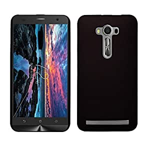 Dashmesh Shopping Rubberised Matte Hard Case Back Cover For Asus Zenfone 2 Laser 5.5 Inch ZE550KL BLACK