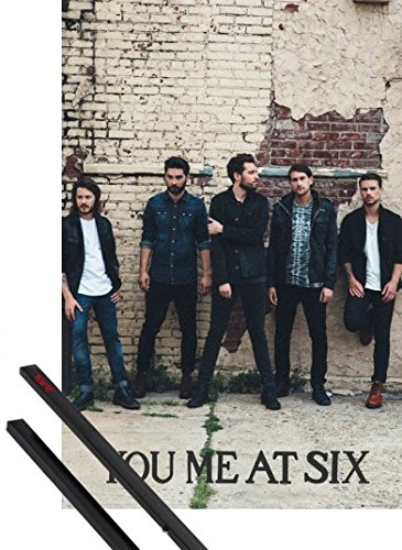 Poster + Sospensione : You Me At Six Poster Stampa (91x61 cm) Sinners Never Sleep, Wall E Coppia Di Barre Porta Poster Nere 1art1®