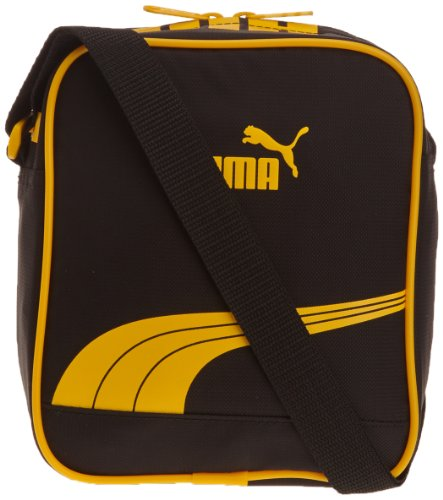Puma, Borsa a spalla Sole Portable, Nero (black-team yellow), Taglia unica