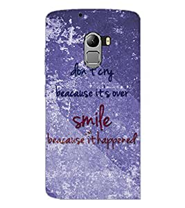 PrintDhaba Quote D-3858 Back Case Cover for LENOVO VIBE K4 NOTE (Multi-Coloured)