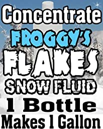Concentrate Froggys Flakes Snow Juice Machine Fluid - Makes 1 Gallon Snow Formula: DRY (50 - 75 Feet Float / Drop)