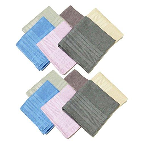 Owm Handkerchiefs 12 Pack Assorted Colored Pure Cotton Solid Handkerchiefs Bulk front-624576
