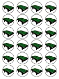 X24 15 Inch Pool Table Birthday Cup Cake Toppers Decorations On Edible Rice Paper