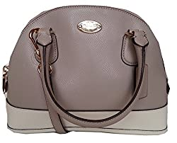 Coach BiColor Crossgrain Mini Cora Dome Satchel