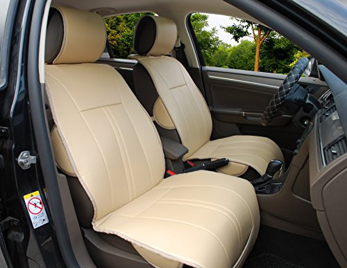 Find Out 120903 Tan 2 Front Car Seat Cover Cushions