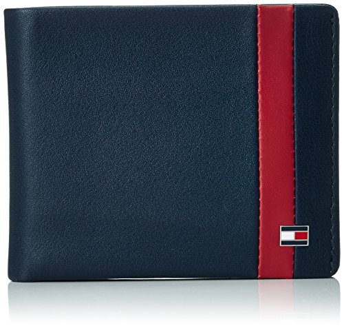 Tommy HilfigerCOLOR BLOCK MINI CC - Portafogli Uomo , Blu (Blau (Midnight/Biking Red 902 902)), 11x9x2 cm (B x H x T)