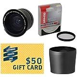Opteka .35x High Definition II Super Wide Angle Panoramic Macro Fisheye Lens For Panasonic Lumix DMC-FZ100 DMC-FZ40...