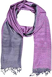 Sahiba Creation new,trendy and colourful silk stoles for women's(pink & grey)