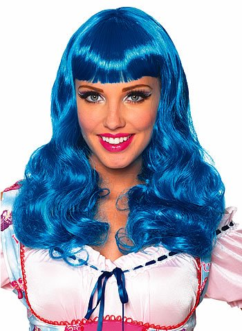 Katy Perry Blue Party Girl Wig Costume Accessory