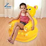 Zomaark Intex Inflatable Animal Air Chair For 3-8 Years Kids (Yellow)
