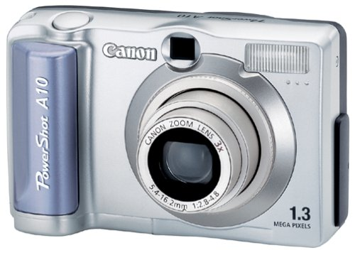 51BFFX5APHL Canon PowerShot A10 1.3MP Digital  Camera w/ 3x Optical Zoom