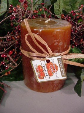 Gingerbread - Round Scented Pillar Candle - 16 Ounce