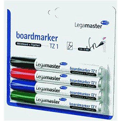 Legamaster marqueur pour tableau tZ 1 set de 4, rechargeable, 5-3 1, mm-avec étui