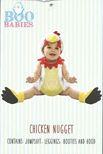 Boo Babies Halloween Costume Chicken Nugget Sz 9-18 Months 4 Pieces White Red