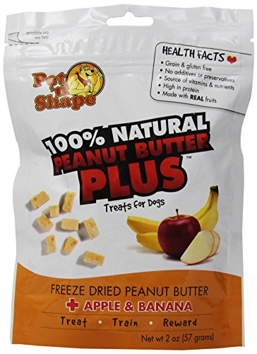 Pet 'N Shape 3-Pack Freeze Dried Peanut Butter Plus Apple And Banana Treat For Dogs