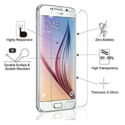 QAWACHH Tempered Glass For Samsung Galaxy S6