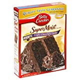 Betty Crocker Supermoist Cake Mix, Triple Chocolate Fudge, 18.4-Ounce Boxes (Pack of 12)