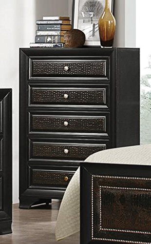 Chest in Black Finish by Coaster Furniture